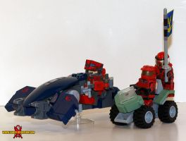 LEGO Halo Ghost and Mongoose by Saber-Scorpion