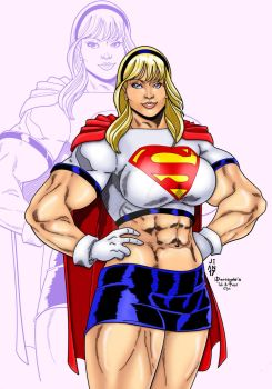 Supergirl Buff by Jean Sinclair by THE-Darcsyde