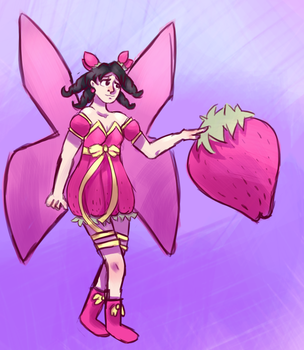 strawberry fairy - for snowlyn by TheEggeh