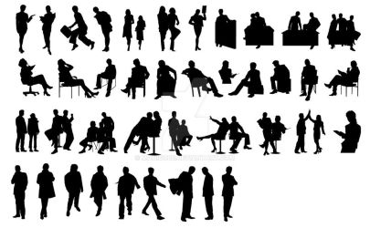 Free vector download - Business people silhouettes by manicobe