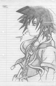 Sora pencil drawing by Aesthari