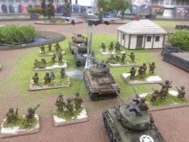 Sherman E8 Tanks With Supports by srsim2
