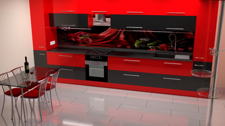 kit4en Black Red Modern by Lukazoid