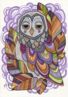 Little colorful owl by Kattvalk