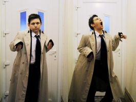 SPN: Raptiel -photoshoot bloopers- by Ex1v