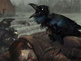 Carrion Crow - MtG by AaronMiller