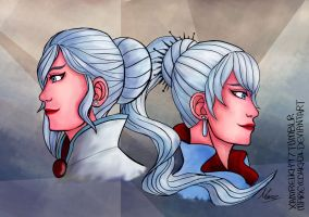 RWBY - The Schnee Sisters by MarieyeohKH24