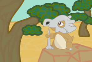 Cubone by doubleosquirtle