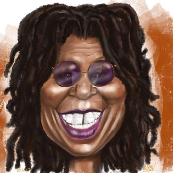 Whoopi Goldberg caricature by bre-bro