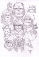 New Gods pencils by guillomcool