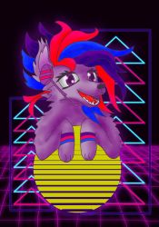 Synthwave The Retro Wolf by Torpy-Ponius