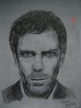 Drawing - Dr. House by Drazeree