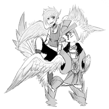 Voxer and Kou | BirdHaven Concept Art by PikaIsCool