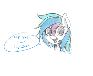 Chibi Ray Light by HoodieFoxy