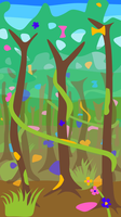 Rainforest Scene by vidthekid