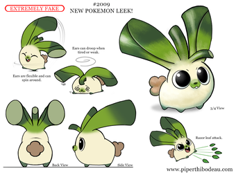 Daily Paint 2009# New Pokemon Leek! by Cryptid-Creations