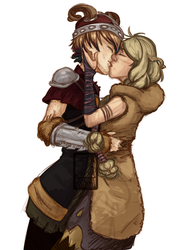 HTTYD oc - Stripling and Ruffnut together by Kobitka