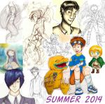 Summer Sketchdump by Checker-Bee