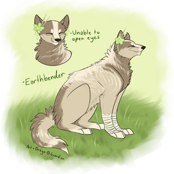 Earthbending dog design by quardie