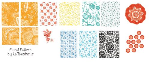 Floral brushes by LaTaupinette