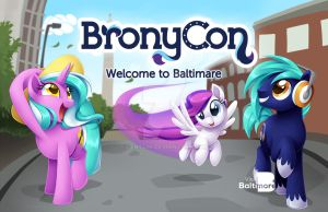 BronyCon 2014 - Welcome To Baltimare Poster by Centchi