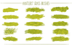Aantlers' Free Photoshop Grass Brushes by aantlers