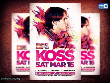 Electro House Music Flyer by Industrykidz