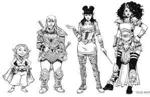 Rat Queens Concept Art by TessFowler