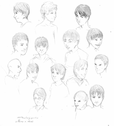 Style practice boy's faces by TheraHedwig
