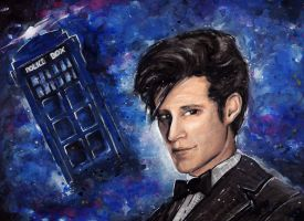Doctor Who and his Tardis (plus Video Tutorial) by Farbenfrei