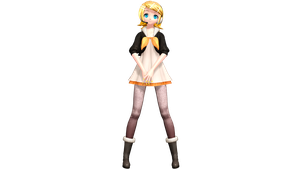Project Diva Future Tone Asymmetry Rin by WeFede