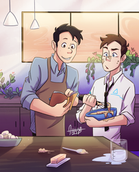 Cooking | Android Jack AU by aileenarip