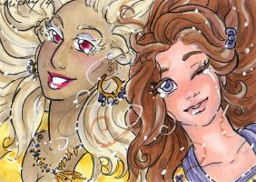 ACEO Al and Kath by nickyflamingo