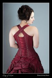 Cross Back Strap Reed Corset by Cuddlyparrot