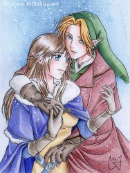 Commission - Link and Serenity by MrsMagalink