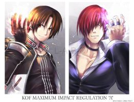 KOF MIA KYO and IORI by L-A-B-O