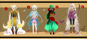 Adoptables - Full-Body Collection [CLOSED] by MissElysium