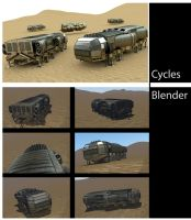 Freighter Render Cycles and Blender by DennisH2010