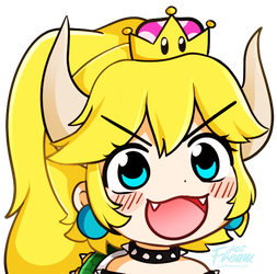 Bowsette by justfream