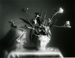 Woman With Tulips by planet0