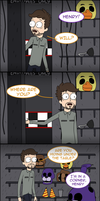 FNaF comic: Springtrap Will (Pickle Rick parody) by WourDeLuck