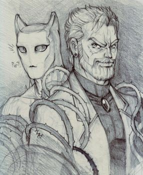 Joseph Joestar and Killer Queen by Northern-god