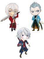 Devil May Cry Chibis by Boburto