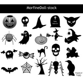 MDS Halloween PS Brushes by MorfineDoll-stock