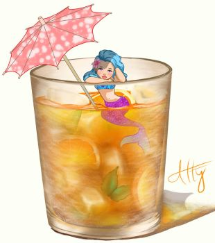 Drink in one hot summer afternoon by Atterca