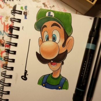 Luigi portrait by Omar-Dogan