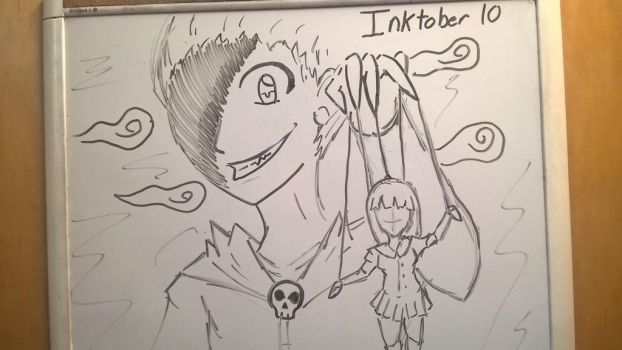 Inktober Day 10: The Puppeteer by PKBChaz