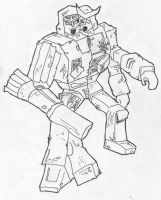 Megatron Ratchet fusion drawn by Carnivac