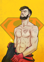 Superboy came out the shirt by TerryAlec