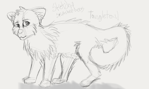 Tangletail SKETCHY SKETCHEDNESS [OC] by QuirkyBaconroni